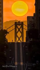 Morning Sunrise Stroll in San Francisco... (markarlilly) Tags: sanfrancisco californiastreet baybridge nikon nikon800mm sunrise trolley