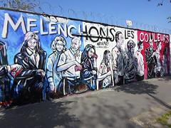 Héolart : Mélenchons les couleurs (avril 2017) (Archi & Philou) Tags: mélenchon élections streetart paris18 tricolore murpeint paintedwall