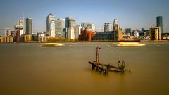 river thames and docklands (mariusz kluzniak) Tags: mariusz kluzniak europe uk greatbritain england london thames river docklands canary wharf long exposure cityscape