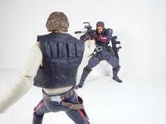 Snake vs Han Solo (Matheus RFM) Tags: starwars hansolo venomsnake metalgear revoltech kaiyodo shfiguarts