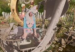 - Look 766 - Bunny (aisha.cahir ✿ {Blogger}) Tags: secondlife kawaii hair mello hairology candykitten ck outfit bunny garter bow cute lollipop heels socks