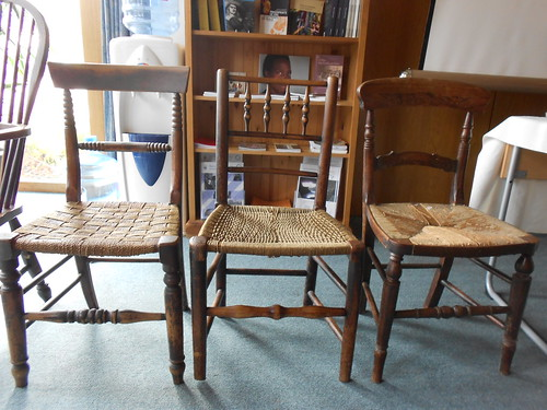 Swarthmoor Hall, Cumbria. CVBG study day. Vernacular chairs.