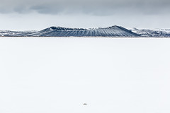 Hverfjall (Kev.s) Tags: winter snow frozen volcano coldera lake iceland