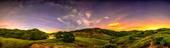 Milky Way Panorama (stuanderson7) Tags: endor dreamscape landscape nature stars mountains outdoor panorama clouds trees hills sonya6000 sky california nightscape vibrant samyang12mmf2 middleearth lightpollution longexposure milkyway