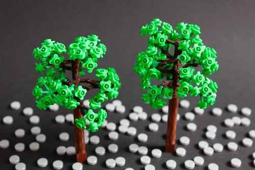 lego tree robot arms flower stem leaves legonyc