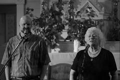 Goiridh Dòmhnalluch and Rona Lightfoot – Fùcadairean Comheach Rìoghail / Fierce Royal Milling Singers – 10/9/05 (photo: Murdock Smith)