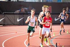 Reed in the 800m leg (Malcolm Slaney) Tags: 2017 arcadiainvitational dmr distancemedleyrelay paloalto paly tf trackandfield