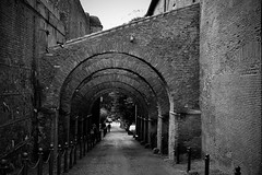 arches (Dirty Thumper) Tags: nikon d5200 dslr nikkor 18105mm zoom rome city street architecture building clivodiscauro arches bw monochrome