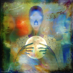 Moon Scryer (Lemon~art) Tags: scryer moon scrying prophecy revelation inspiration divination fortunetelling occult layers texture manipulation