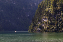 Cruising Konigssee (Howard Ferrier) Tags: charterboat cliff europe flora germany konigssee lake marinevessel mountain plants tourboat transport tree vegetation