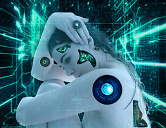 Cyborg (Jackie XLY) Tags: cyborg robot android borg femalecyborg femaleandroid scifi science sciencefiction scifiart scifidigitalart