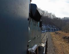 Rock cut view 1 (GLC 392) Tags: mapletown pa pennsylvania emd sd382 cmyx cumberland mine railroad railway train coal empty bridge 11 tunnel river creek snow dpu kirby alicia rock cut cab ride 1
