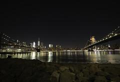 Between two bridges (C@mera M@n) Tags: brooklyn brooklynbridge city harbor manhattanbridge ny nyc newyork newyorkcity nightphotography place places urban water waterfront outdoors