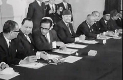 The ministers discussing the strategy (Doc Kazi) Tags: president ayub khan muhammad pakistan history end regime talks 3 march 1969 all leading politicians except bhutto