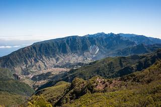 São Vicente und das Zentralmassiv vom Pico Ruivo do Paul