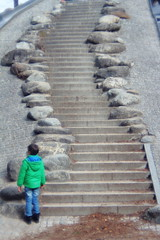 The Long and Winding Road (Amens Alteraporta) Tags: street people kids child road windig long color green manual