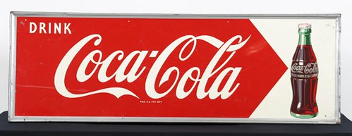 Coca-Cola Sign with Bottle ($420.00)