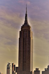 The Lady (Emm Ess) Tags: nyc esb sunset empirestatebuilding sonyα55