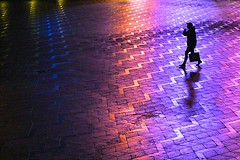 Purple rain (Birdhouse camper) Tags: copenhagen denmark color street silhouette reflection rain fujifilm fuji fujifilmx10 purple