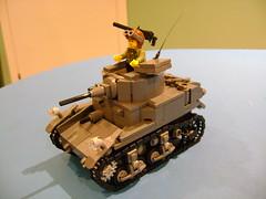 Custom Lego Stuart M3A1 Prototype (tekmoc17) Tags: lego ww2 m3a1 tank usa brick war light stuart custom moc