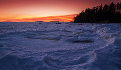 Seaside Colors (tinamar789) Tags: sea seashore seascape sunset snow ice color horizon lauttasaari helsinki finland