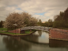 Lonely fisherman (jeff.dugmore) Tags: england westmidlands netherton dudley canal bridge fisherman water longexposure warrenshallpark park outdoor outside urban sky skyline blackcountry architecture reflection trees olympus tranquil serene nisi windmillend