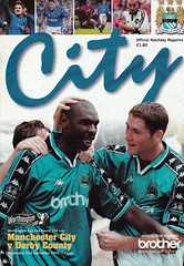 Manchester City vs Derby County - 1998 - Cover Page (The Sky Strikers) Tags: manchester city derby county worthington cup road to wembley maine official matchday magazine one pound eighty