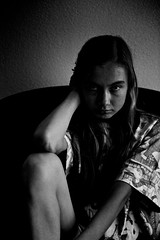 Jorien (Matthieu Verhoeven - Photographer -) Tags: wwwmatthieuverhoevennlmatthieuverhoevenfotograaf matthieu verhoeven girl meisje zwart wit black white jorien filmnoir shoot model portret portrait
