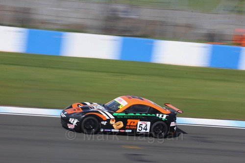 Adam Smalley in Ginetta Junior Race One during the BTCC Weekend at Donington Park 2017