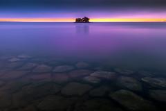 sunset 9037 (junjiaoyama) Tags: japan sunset sky light cloud weather landscape purple contrast colour lake island water nature spring