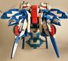 KS-22, top down rear view (Tan YL) Tags: lego moc creation bricks slopes plates sf scifi mecha armor battlesuit powersuit mech airborne vtol rear ks22 keisha nf2 bricked