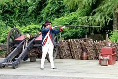 Aim, (nutzk) Tags: virginia yorktown americanrevolutionmuseum recreated continentalarmy encampment firing gun