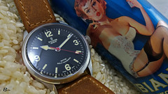 Ranger and Pin-Up (* Philippe B) Tags: ranger tudor heritage pinup rice tudorranger watch rose leather