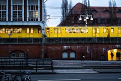 Berlin in Colour 1: Friedrichshain (The Urban Scot) Tags: berlin fujixpro2 naturallight primelens rawfiles street streetphotography travel urban urbanscot availablelight fuji xpro2 friedrichshain germany transport ubahn yellow frankfurtertor