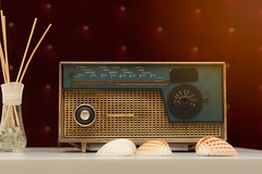 Radio Player (vuralyavas) Tags: radio retro vintage old background antique table isolated object technology speaker equipment music wave classic station sound shortwave broadcast tuner style brown wood communication entertainment musical nostalgia electronics frequency knob texture listening
