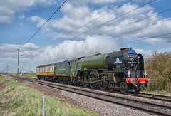 LNER 4-6-2 Peppercorn Class A1 60163 'Tornado' (Barry Duffin) Tags: train trains travel transport tracks rail railway railscape retro railroad sky steam steamtrain bluesky blue clouds green red lner 462 peppercorn tornado 5z63 60163 frinkleylane hougham doncaster ortonmere nenevalley photography photo nikon nik dslr d3000 britishrail britain br uk ukrail uksteam outdoor vehicle photoshop black england ecml vintage heritage