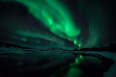 Northern lights. Thingvellir National Park II. Iceland. (Orion Azul) Tags: northernlight aurora boreal stars estrellas thingvellir islandia iceland night noche verde green snow nieve laguna lagoon cielo sky northern