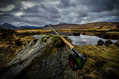 The great outdoors (Nicolas Valentin) Tags: flyfishing scotland rannochmoor ecosse peche fishing nature landscape cloud clouds wilderness