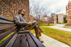 Northrop Frye (A Great Capture) Tags: agreatcapture agc wwwagreatcapturecom adjm ash2276 ashleylduffus ald mobilejay jamesmitchell toronto on ontario canada canadian photographer northamerica torontoexplore spring springtime printemps 2017 sculpture northropfrye bench uoft universityoftoronto university darrenbyers fredharrison queenspark statue art bronze efs1018mm 10mm