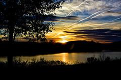 WHEN GOD SAYS GOOD NIGHT ... (Aspenbreeze) Tags: colorado sunset dusk twilight nature lake sundown trees sky clouds sun rural bevzuerlein aspenbreeze moonandbackphotography