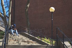 He's lost within himself (Marcos Larancuent) Tags: downtown riverside providence rhodeisland risd stairs