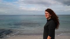 Aran Islands - Inis Oirr (Kungfuprincess) Tags: ireland irland inis oirr aran island travelireland thinking lookout womanatbeach beach sand daydreaming
