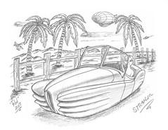 Stragler (rod1691) Tags: bw sketch scifi alien greys concept custom car retro space hotrod drawing pencil h2 original story fantasy funny automotive art illistration greyscale moonpies