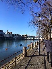 Basel (2015) (alexismarija) Tags: basel switzerland europe christmas winter basler river rhineriver water architecture history people
