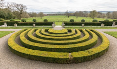 Horseshoes In Green (Mac ind Óg) Tags: garden houseofdun spring hedge landscape walking montrose sundial angus green nts scotland holiday parterre