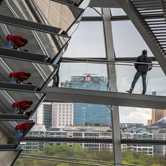 Lady in red (neil.bulman) Tags: reichstag germany reflection dom glass modern berlin easter