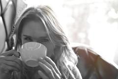 Unexpected meeting (Matt Berger Photography) Tags: portrait blackandwhite bw woman monochrome 35mm nikon nikkor f18 afs dx nikond3200 mattberger d3200 nikkor35mm f18g