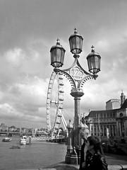 stay with me (federicawho) Tags: street sky people white black london eye lamp thames londoneye