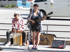 Street Performer - Umeda, Osaka (Ogiyoshisan) Tags: life people music girl japan person japanese song live performance   performer umeda guiter    streetsnap