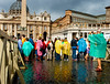 Vatican rain (jimj0will) Tags: italy vatican rome roma wet water rain weather reflections mac colours outdoor tourists historic line queue showers raining cobbles raincoat rainmac jimj0will jimjowill